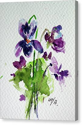 Canvas Print featuring the painting Violet by Kovacs Anna Brigitta