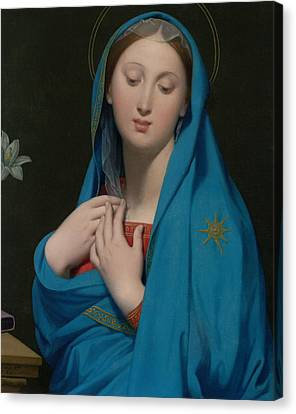 Virgin Of The Adoption Canvas Print by Jean-Auguste-Dominique Ingres