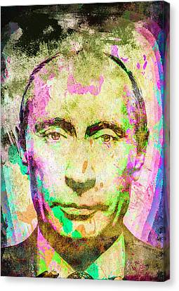 Vladimir Putin Canvas Print by Svelby Art