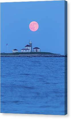 Watch Hill Moonrise Canvas Print by Bryan Bzdula