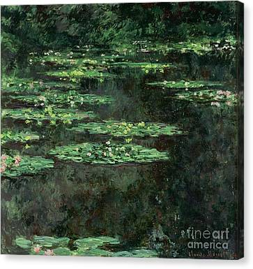 Nympheas Canvas Print - Waterlilies by Claude Monet