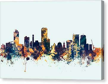 Wellington New Zealand Skyline Canvas Print