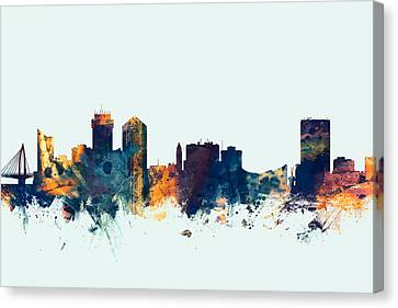 Wichita Kansas Skyline Canvas Print