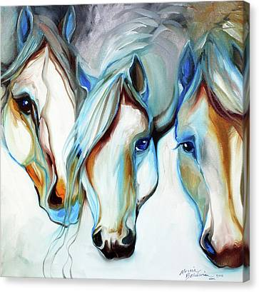 Canvas Print - 3 Wild Horses In Abstract by Marcia Baldwin