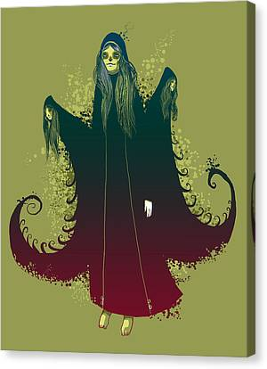 Goth Canvas Print - 3 Witches by Michael Myers