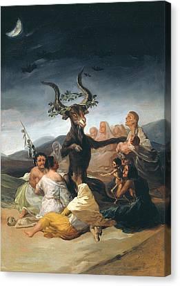 Witches Sabbath Canvas Print by Francisco Goya