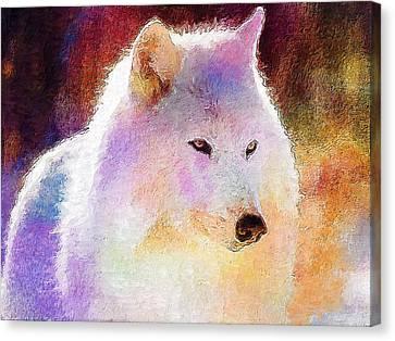 Wolf Canvas Print by Elena Kosvincheva