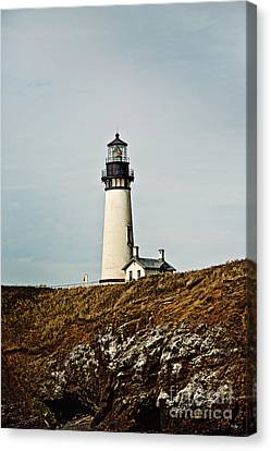 Yaquina Head Lighthouse Canvas Print by Scott Pellegrin