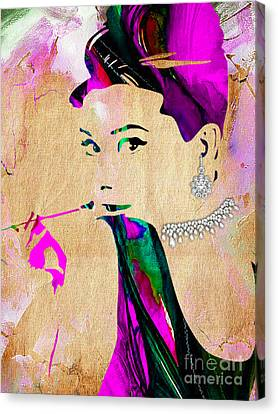 Audrey Hepburn Collection Canvas Print by Marvin Blaine