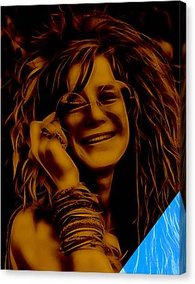 Janis Joplin Collection Canvas Print by Marvin Blaine