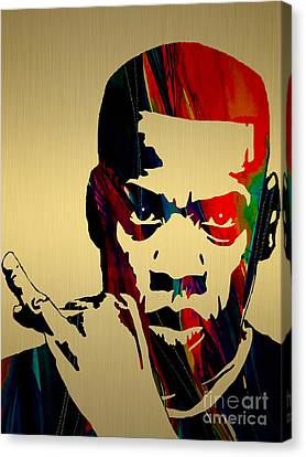 Jay Z Canvas Print - Jay Z Collection by Marvin Blaine