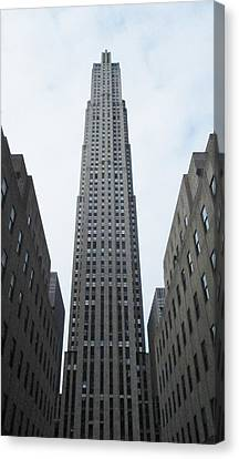 Canvas Print featuring the photograph 30 Rockefeller Center by Christopher Kirby