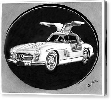 300 Sl Gullwing Canvas Print by Peter Piatt