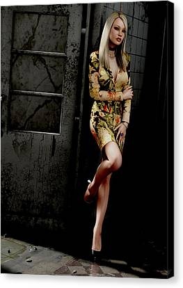 Abandoned Facility - Pose 1 Canvas Print by K Low