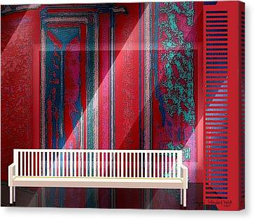 304 - Still-life With Bench Canvas Print
