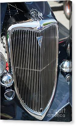 30s Vintage Ford Hotrod With Chrome Greyhound Canvas Print