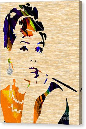 Audrey Hepburn Collection Canvas Print by Marvin Blaine