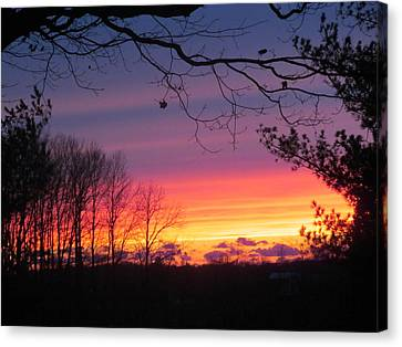 31 Oct 2012 Sunset Two Canvas Print by Tina M Wenger