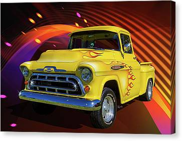 3100 Chevy Canvas Print by Keith Hawley