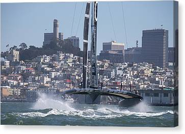 Sausalito Canvas Print - America's Cup Oracle by Steven Lapkin