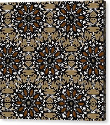 Pattern And Optics Art Canvas Print by Ricki Mountain