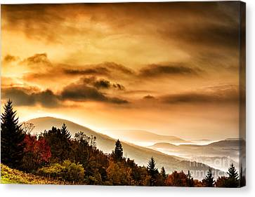 Allegheny Mountain Sunrise Canvas Print by Thomas R Fletcher