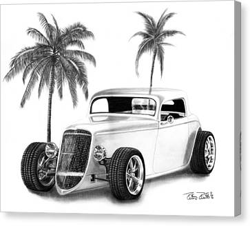 33 Ford Coupe Canvas Print by Peter Piatt