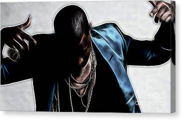 Kanye West Collection Canvas Print by Marvin Blaine