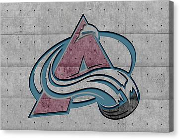 Goalie Canvas Print - Colorado Avalanche by Joe Hamilton