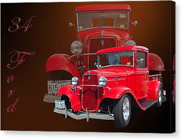 34 Ford Pick Up Canvas Print by Jim  Hatch