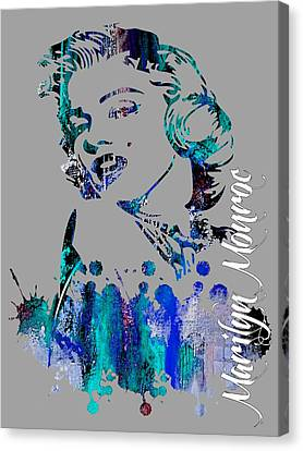 Hollywood Canvas Print - Marilyn Monroe Collection by Marvin Blaine