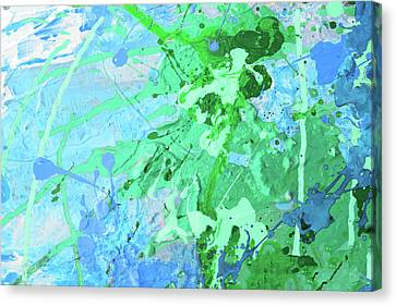Abstract Oil Paint Texture On Canvas, Background Canvas Print by Alim Yakubov