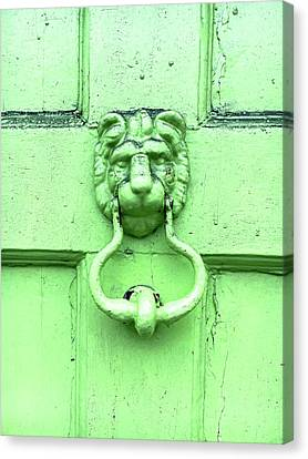 Medieval Entrance Canvas Print - Door Knocker by Tom Gowanlock