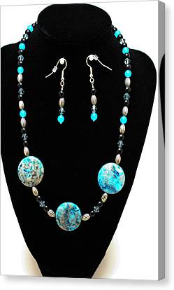 3517 Crazy Lace Agate Set Canvas Print by Teresa Mucha
