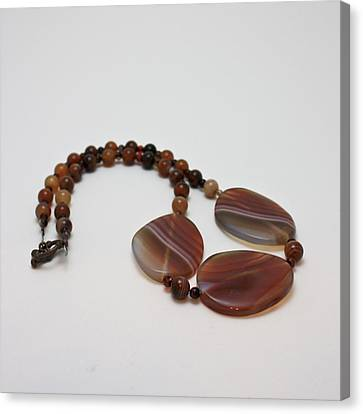 3543 Coffee Vein Agate Necklace Canvas Print by Teresa Mucha