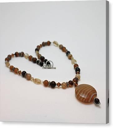 3574 Coffee Onyx Necklace Canvas Print