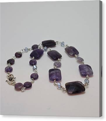 3575 Amethyst Necklace Canvas Print by Teresa Mucha