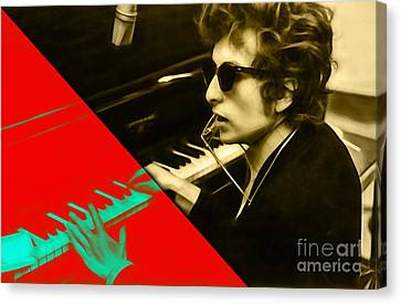 Bob Dylan Collection Canvas Print