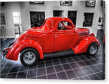 Street Hod Rods Canvas Print - 36 Ford Coupe Hod Rod by Don Columbus