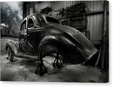 36 Ford Coupe Rear Canvas Print