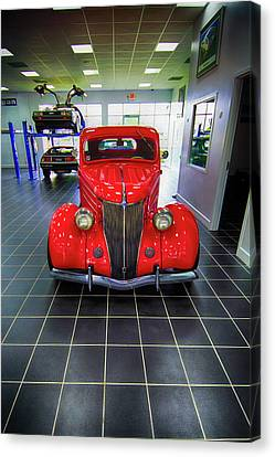 Street Hod Rods Canvas Print - 36 Ford Rumble Seat Hod Rod by Don Columbus