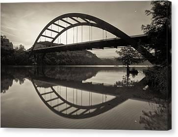 360 Bridge Morning In Sepia Canvas Print by Rob Greebon