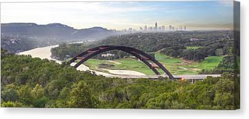 360 Bridge Near Austin Texas Morning Panorama 1 Canvas Print by Rob Greebon