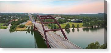 Pennybacker Bridge Canvas Print - 360 Bridge Panorama Summer Morning 1 by Rob Greebon
