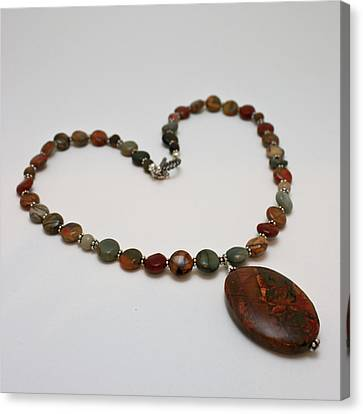 3600 Picasso Jasper Necklace Canvas Print by Teresa Mucha