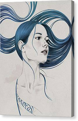 Drawing Canvas Print - 361 by Diego Fernandez