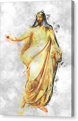 Cross Canvas Print - Jesus Christ - Religious Art by Elena Kosvincheva