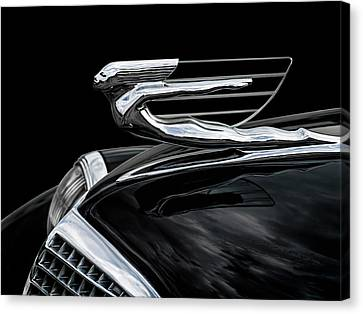 37 Cadillac Hood Angel Canvas Print