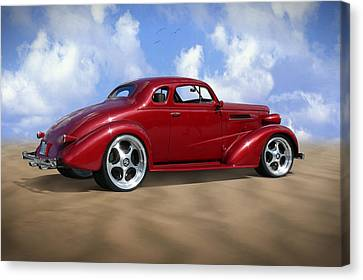 37 Chevy Coupe Canvas Print by Mike McGlothlen