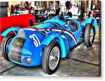 Delahaye Fast From The Front Canvas Print by Josh Williams